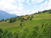 Hut in Alpen Royalty-vrije Stock Foto's