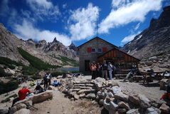 Hut in the Argentine mountains Royalty Free Stock Photography