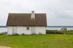 Hut ashore stock image