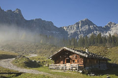 Hut in Austria Stock Photo