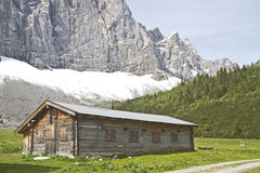 Hut in Austria Royalty Free Stock Images