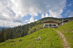 Hut in bavarian alps Royalty Free Stock Image