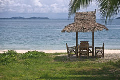 Hut on the beach. Royalty Free Stock Photo