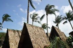 Hut on the beach Stock Image