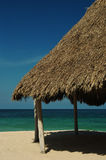 Hut on Beach Royalty Free Stock Photos