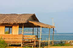 The hut on the beach. Thailand Royalty Free Stock Images