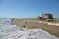 Hut on the beach Stock Photo