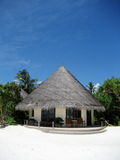 Hut in the beach Stock Photography