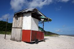 Hut beach Stock Photography