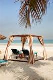 Hut on the beach of luxury hotel Stock Image