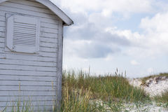Beach hut. Hut on the beach in sweden Stock Images