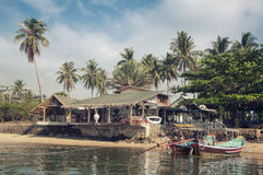 Hut at the beach in Thailand Royalty Free Stock Image