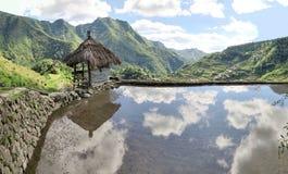 Hut bij Unesco-Rijstterrassen in Batad, Filippijnen Royalty-vrije Stock Foto's