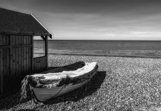 Hut & Boat Royalty Free Stock Images