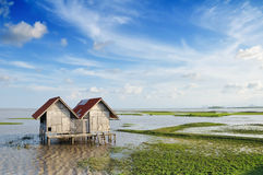 Hut on a bog Stock Image
