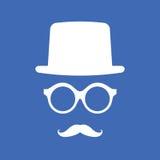 Hut, Brillen und Schnurrbart stock abbildung