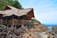 Hut built on stilts Stock Image