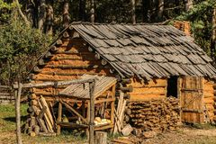 Hut, Cabin, Settlers Royalty Free Stock Image