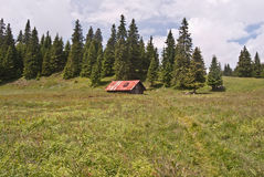 Hut called Hotel Choc on Stredna polana meadow Stock Photography
