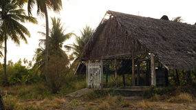 Hut in the caribbean Royalty Free Stock Photo