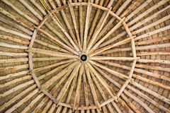 Hut ceiling. Make by wood stock photography