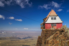 Hut on Chacaltaya Stock Images