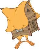 Hut on chicken legs cartoon Royalty Free Stock Image