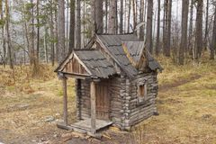 The hut on chicken legs royalty free stock images