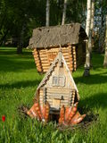 The hut on chicken legs Royalty Free Stock Photos