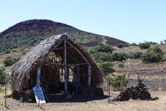 Hut at Tourist Info. Hut close to the tourist information point royalty free stock images