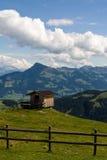 Hut in de bergen Royalty-vrije Stock Foto