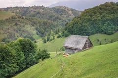Hut in de bergen Royalty-vrije Stock Afbeeldingen