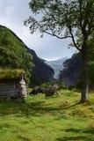 Hut in de bergen Royalty-vrije Stock Afbeelding