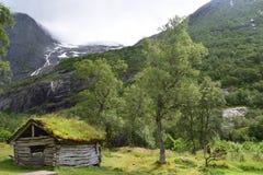 Hut in de bergen Stock Afbeeldingen