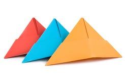 Hut des farbigen Papiers getrennt Stockfotografie