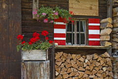 Hut detail in Tyrol Royalty Free Stock Photography