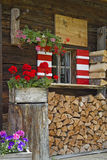 Hut detail in Tyrol Stock Images