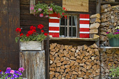 Hut detail in Tyrol Royalty Free Stock Image