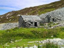 The hut at Dubs Quarry, Lake District Royalty Free Stock Image