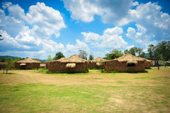 Hut. Farm and clouds in Thailand Royalty Free Stock Photo