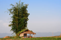 Hut in farmland Royalty Free Stock Image