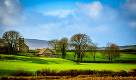 A hut in the fields Royalty Free Stock Image