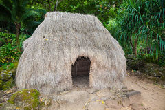 Hut and Figures, Traditional, Hawaii Royalty Free Stock Photography