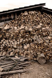 Hut and firewood Royalty Free Stock Photos