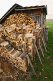 Hut and firewood Stock Photography