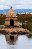 Hut on Floating Islands Royalty Free Stock Photo