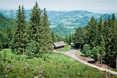 Hut in the Forest Stock Photography