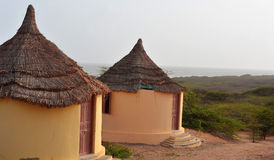 Hut at forest at beach. India Royalty Free Stock Photo
