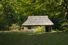 Hut in a forest Royalty Free Stock Photography
