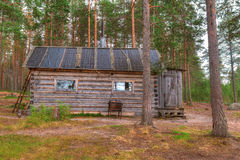 Hut in forest Royalty Free Stock Images